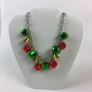 """Jewelry -  Jingle Bells Christmas Holiday Necklace 10"""""""