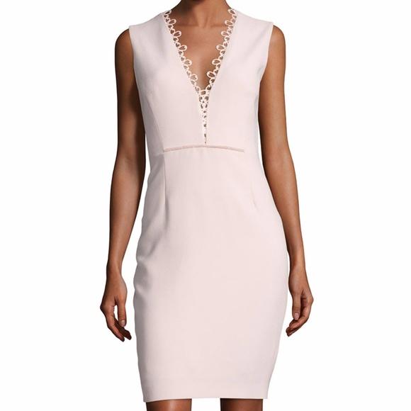a86780dce840 Elie Tahari Dresses | Saylah Lacetrim Sheath Dress Aura 12 | Poshmark