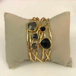 Gorjana Lola Bangle with semi precious stones