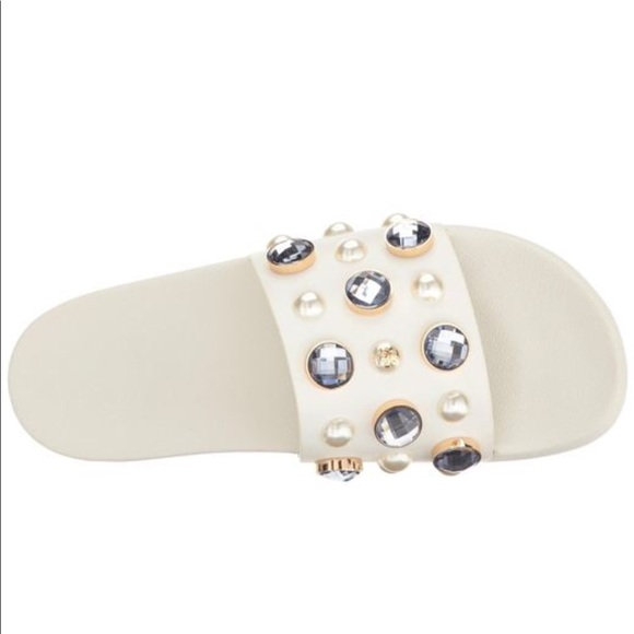 cafb2a2163dbc Tory Burch Vail Embellished Slide Sandal