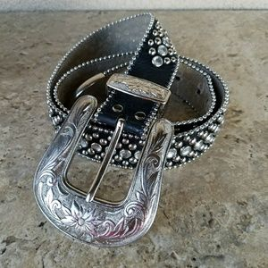 Accessories - BB Simon Western Bling Belt Size L