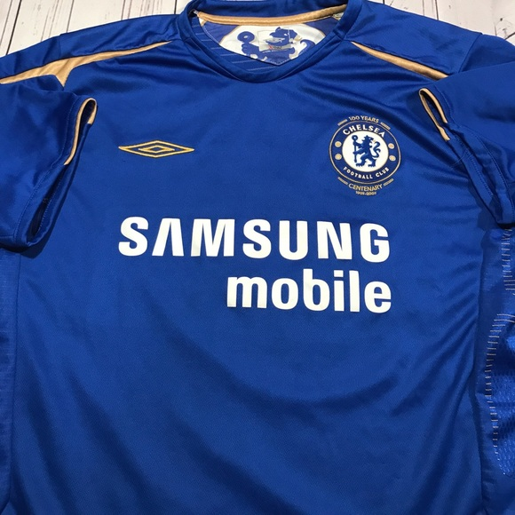 best loved 02b33 a8a29 Umbro Chelsea Century Soccer Football XL Jersey