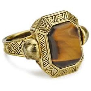 House of Harlow 1960 Tigers Eye Cocktail Ring