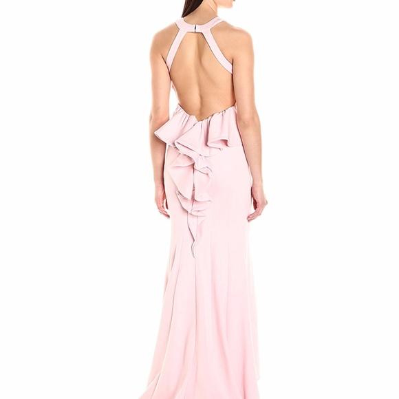 d7c8a3481633 Xscape Dresses | Openback Ruffled Gown Blush | Poshmark