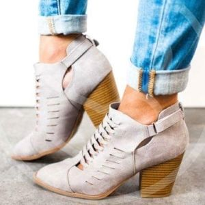 JESSLYN Chic Bootie - GREY