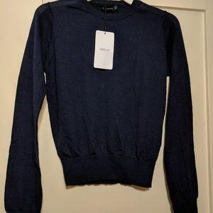 NWT Zara women navy sweater *FIRM PRICE*
