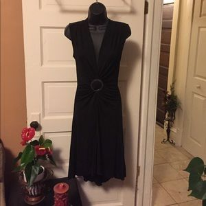 Perfect little black dress Bebe  deep V-neck
