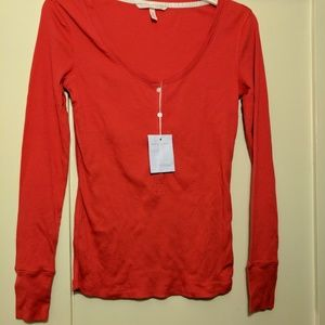 NWT Victoria's Secret red long sleeve *FIRM PRICE*