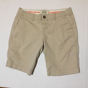 Old Navy Khaki Perfect Bermuda Shorts