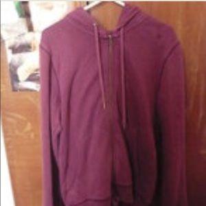ISO Topshop Purple Hoodie Full Zip