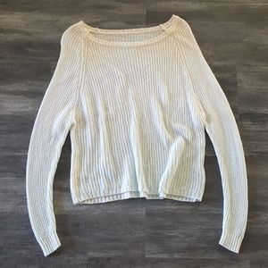 White Ombre Melville Sweater Long Sleeve
