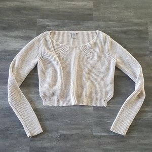 Nude Glitter Detailed Sweater Long Sleeve