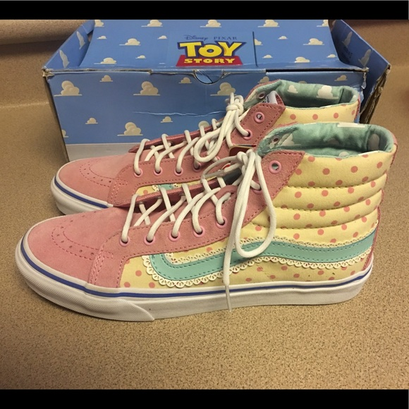 Vans Shoes Sk8 Hi Slim Toy Story Bo Peep 95 Women 8 Men Poshmark