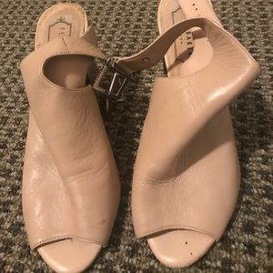 Ted Baker nude leather open toe heels size 37.5
