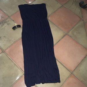 NWT Gap Maxi dress strapless navy soft flowy