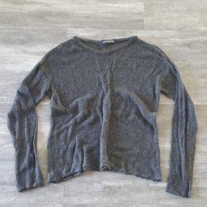 Dark Grey Knit Melville Sweater Long Sleeve