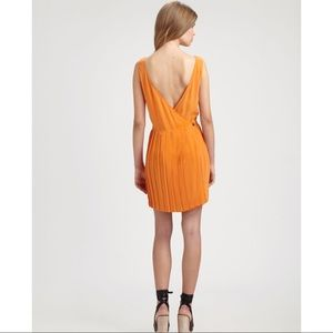 Steven Alan Tristan Pleated Silk Vback Dress