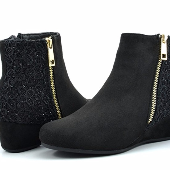 8d3046838 Dream Pairs Shoes | Womens Black Low Wedge Ankle Boots 10 | Poshmark