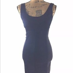 GAP dress XS denim blue black colorblock bodycon