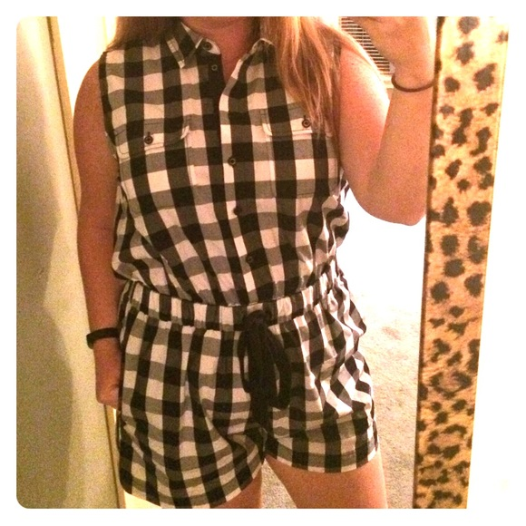 2220ef747415 kate spade Other - Kate spade black and white checkered romper