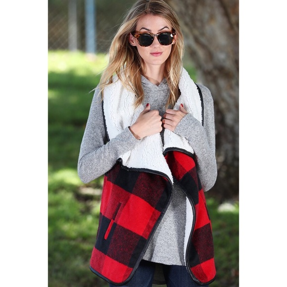 Hannah Beury Jackets & Blazers - LAST ONE! Faux Fur Open Front Vest with Pockets