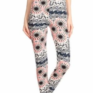 08334fe62c3ec Pants - PINK BLACK PRINTED FULL LENGTH HIGH WAIST LEGGINGS