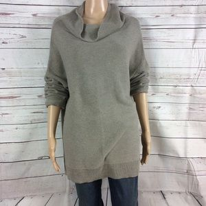 ON oversized cowl neck coton blend Gray sweater XL