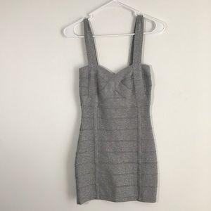Dresses & Skirts - BLACK FRIDAY SALE!  F21 Shimmering Silver Dress