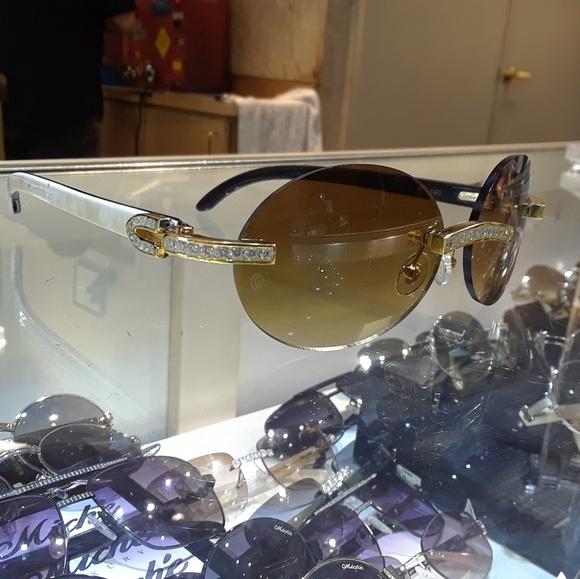 0092d78cfb Cartier accessories diamond glasses poshmark jpg 580x579 Cartier buffs  glasses diamonds