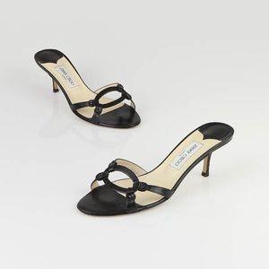 Jimmy Choo Calder leather heels sandals size 40