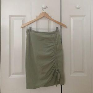 Nanette Lepore Seafoam Green Ruffled Skirt