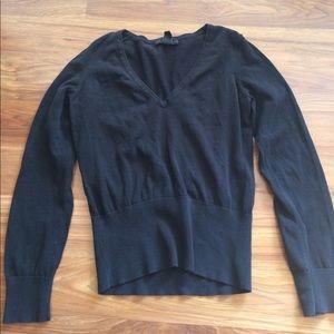 Silk-Cotton Blend V-Neck Sweater