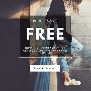  - Free shipping on bundles!