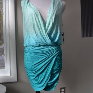 Young Fabulous & Broke Ruched Ocean Ombre Dress