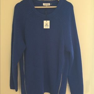 Calvin Klein Sweaters - Calvin Klein Cobalt Blue Zipper Sweater