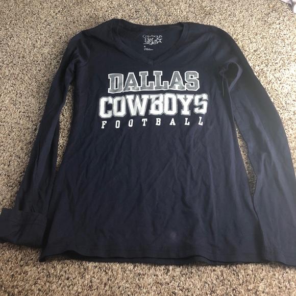 dallas cowboys women's long sleeve shirts