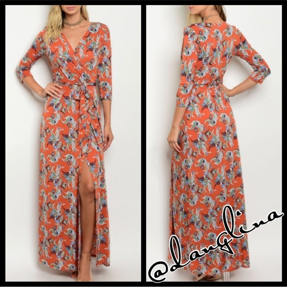 @danglina Dresses & Skirts - 🚦SALE-firm was 50$ floral wrap  maxi dress