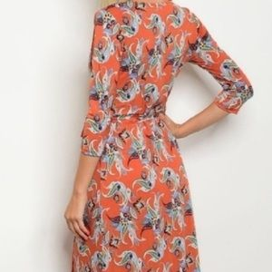 @danglina Dresses - 🚦SALE-firm was 50$ floral wrap  maxi dress