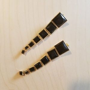 Jewelry - Black and Gold Dangle Earrings