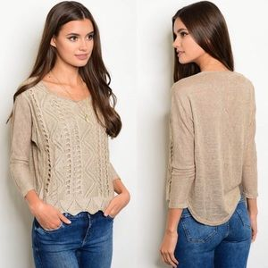 Tops - Tulip & Scallop Knit Top