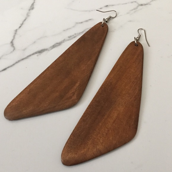 Jewelry - Wood Dangle Earrings