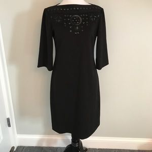 Donna Morgan - size 4 EUC black beaded dress