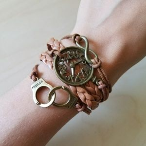 Jewelry - Boho Faux Leather Bracelet