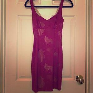 Purple and nude dress worn once