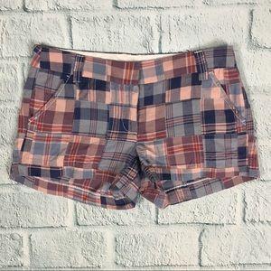 J. Crew Factory Blue Plaid Casual Shorts