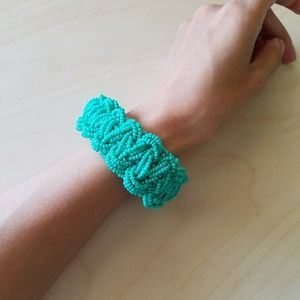 Jewelry - Mint Beaded Braid Chunky Bracelet