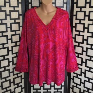 Michael Kors red and pink tunic style top