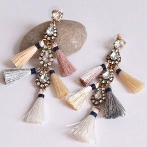 Jewelry - NWT long Tassel statement  Earrings