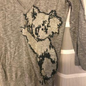 🐨 Gilly Hicks Koala Sweater Size S Grey Silver