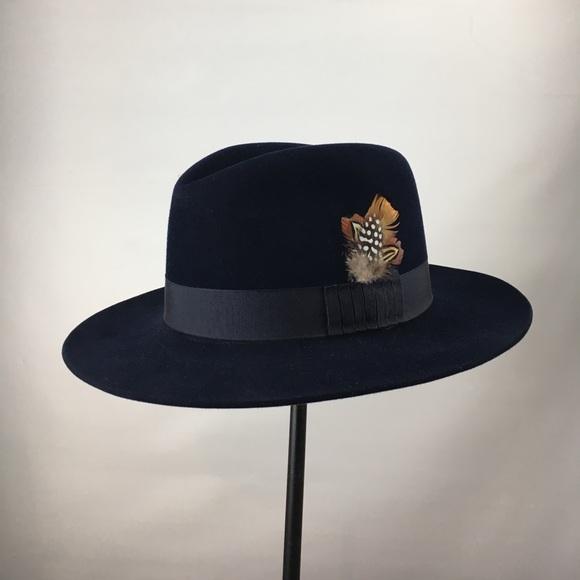 29d9a5dd385 98+ Borsalino Beaver Fur Felt Hat Black Medium Brim Delmonico Hatter ...